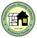 a logo with the text Manatee County Housing Authority Bradenton Florida